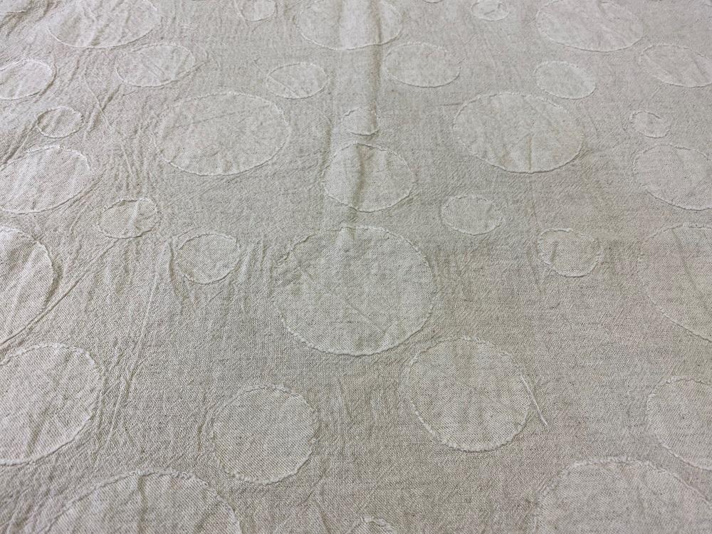 綿麻ランダム丸柄カットジャガード メイン画像2